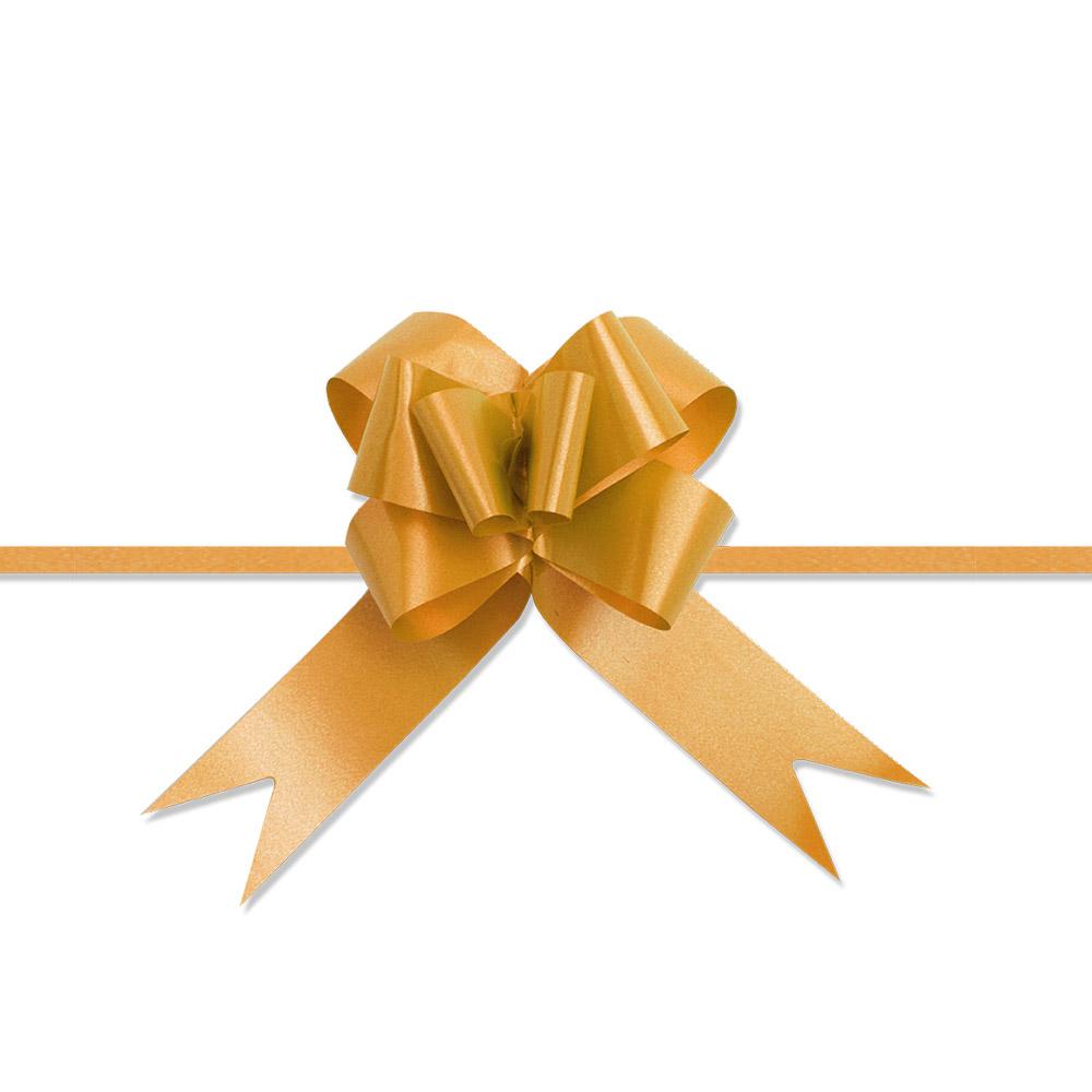 Laço Mágico Pronto (Médio) - Dourado - 1,8x36cm - Pacote - 10 unid