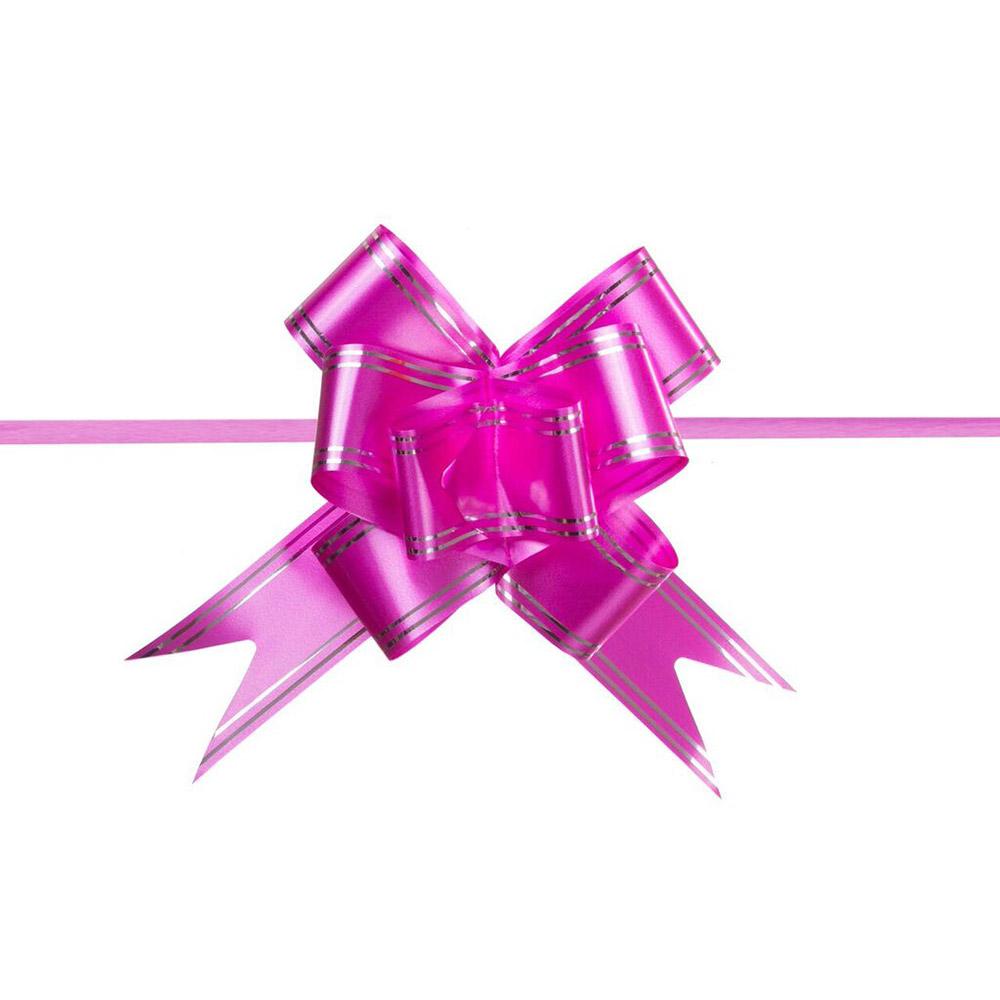 Laço Mágico Pronto (Médio) - Pink - 1,8x36cm - Pacote - 10 unid