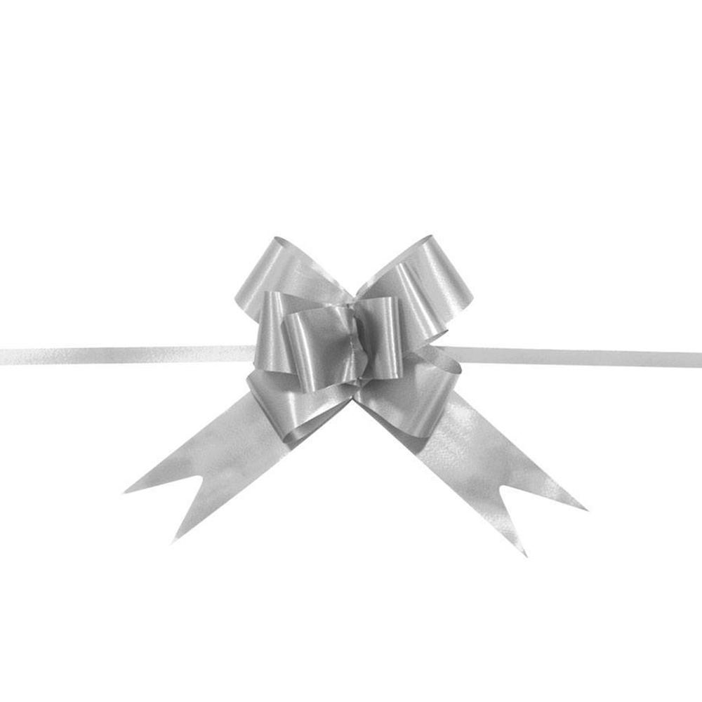 Laço Mágico Pronto (Médio) - Prata - 1,8x36cm - Pacote - 10 unid