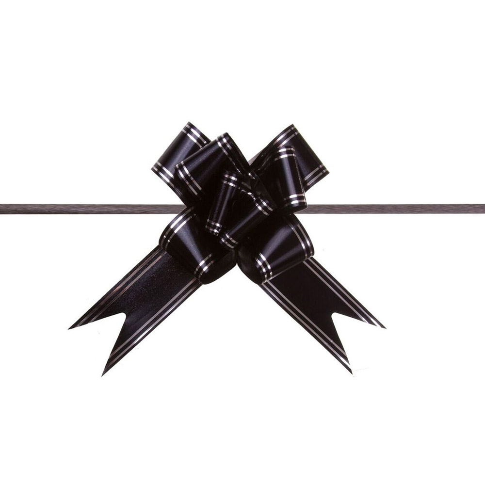 Laço Mágico Pronto (Médio) - Preto - 1,8x36cm - Pacote - 10 unid
