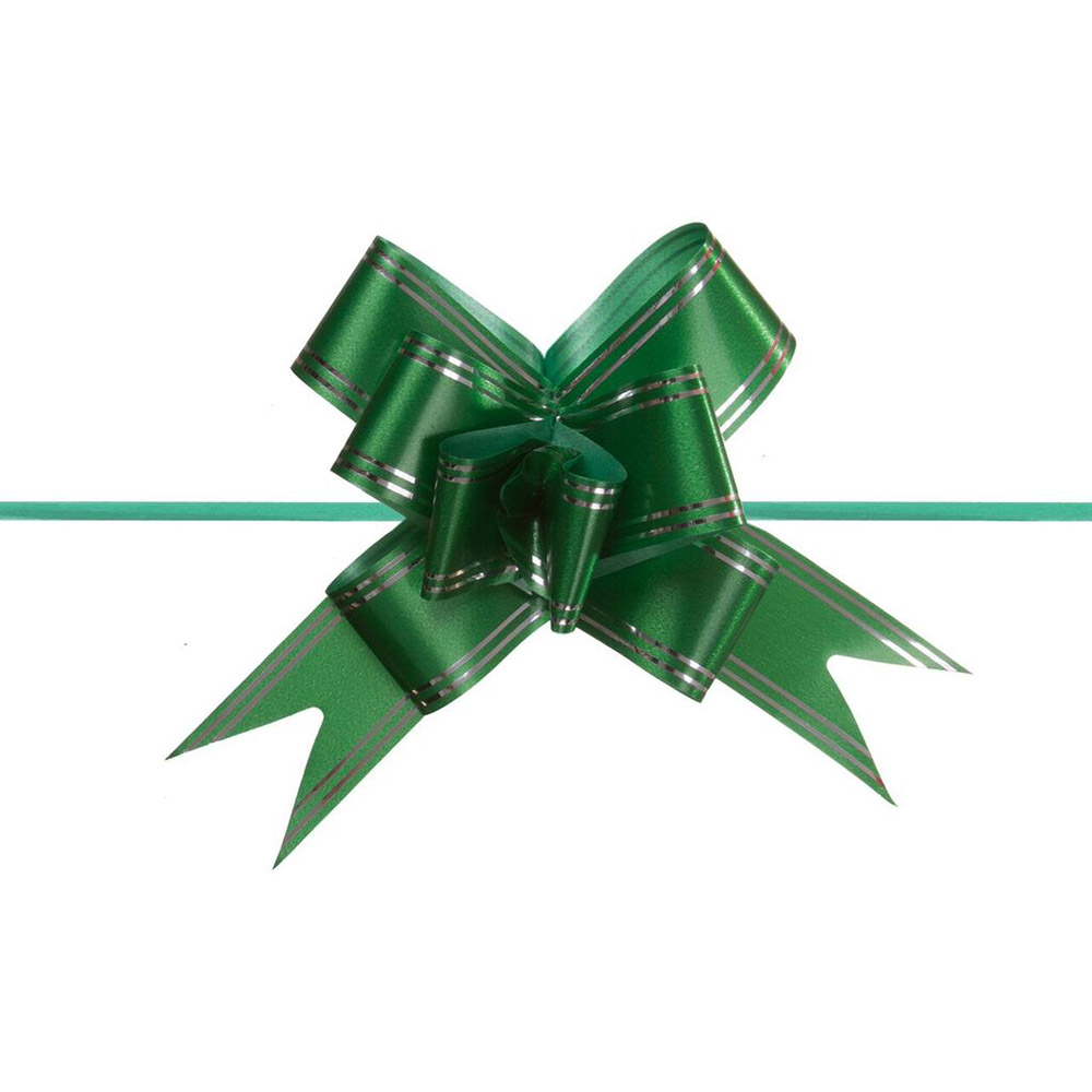Laço Mágico Pronto (Médio) - Verde Escuro - 1,8x36cm - Pacote - 10 unid
