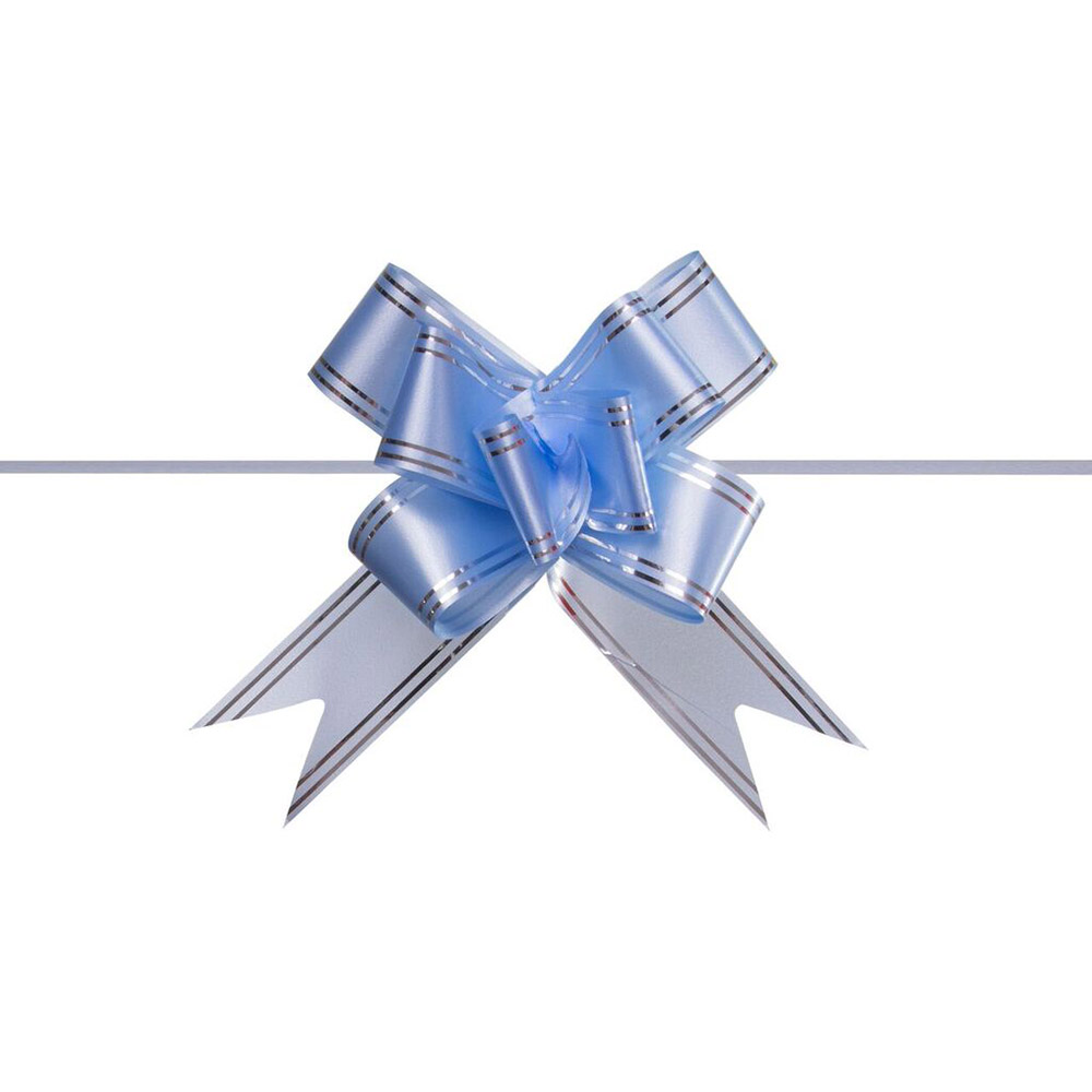 Laço Mágico Pronto (Pequeno) - Azul Claro - 1,2x25cm - Pacote - 10 unid