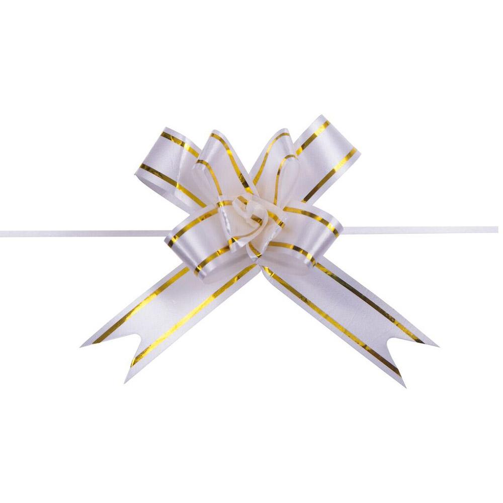 Laço Mágico Pronto (Pequeno) - Branco - 1,2x25cm - Pacote - 10 unid