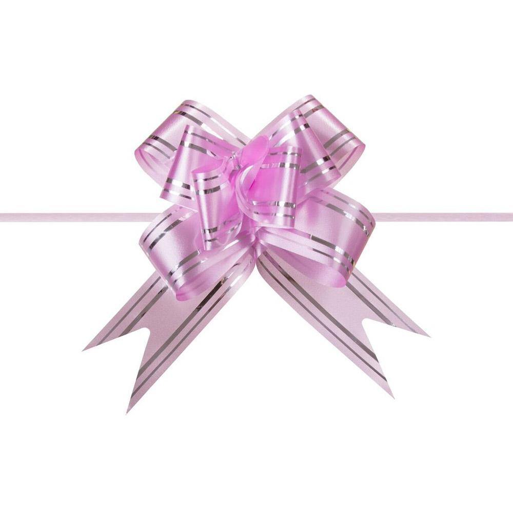 Laço Mágico Pronto (Pequeno) - Rosa - 1,2x25cm - Pacote - 10 unid