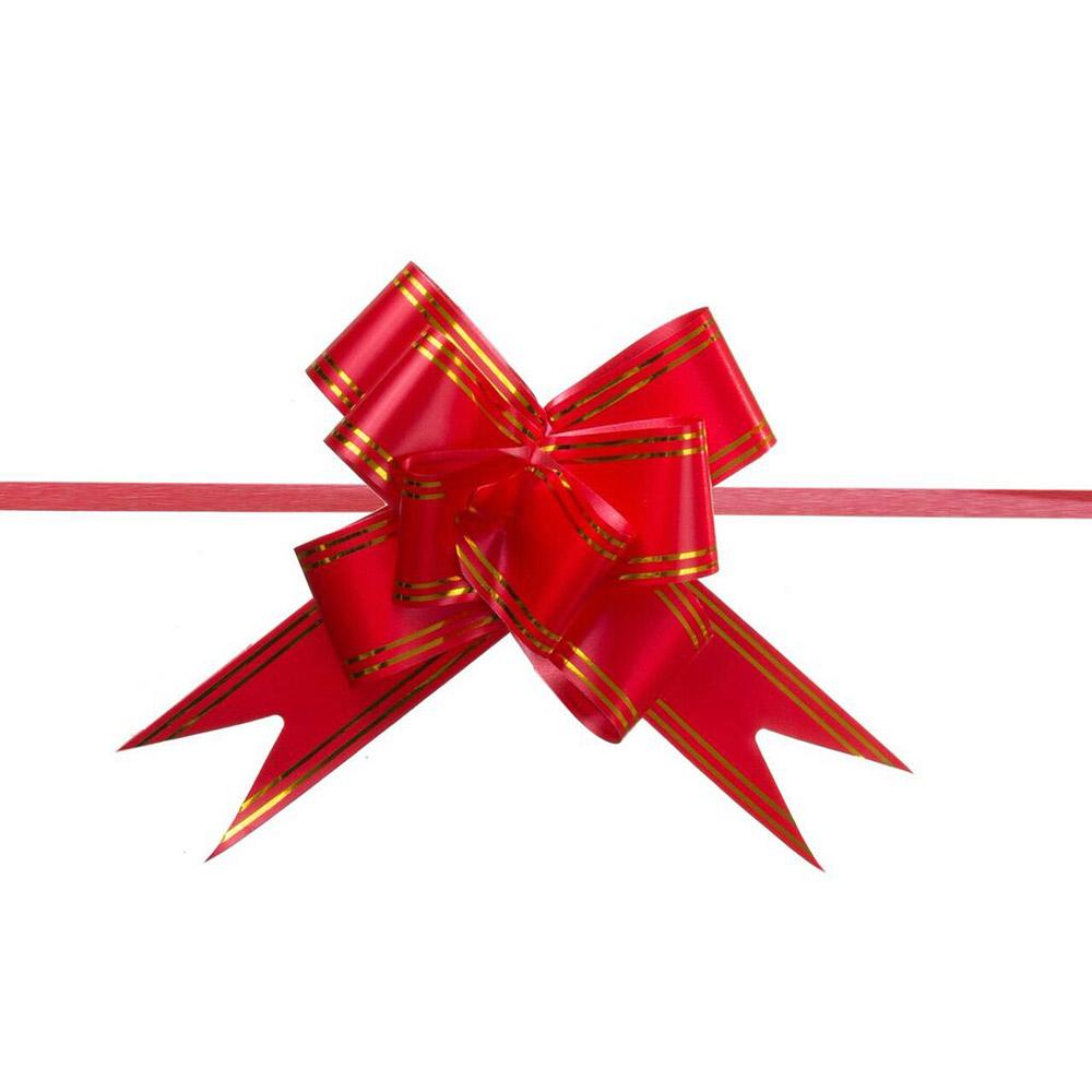 Laço Mágico Pronto (Pequeno) - Vermelho - 1,2x25cm - Pacote - 10 unid