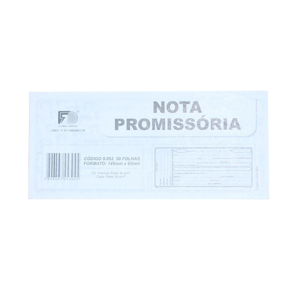 Nota Promissoria Pequena - 14,5x6,5cm - Com 50 Folhas (20 Unidades) (Pacote Total 1.000 folhas)