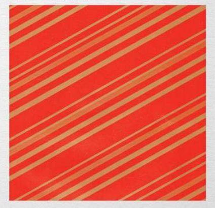 Papel de Presente - Bobina Couchê - 40cm x 90m Listrado Vermelho