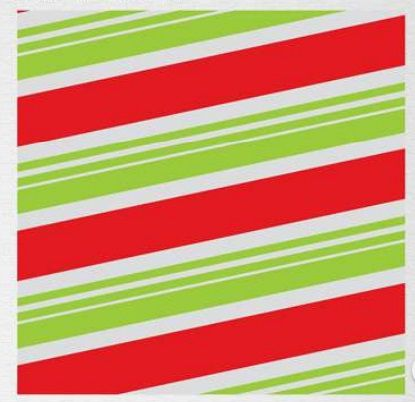 Papel de Presente - Bobina Couchê - 40cm x 90m Listras Verde Neon