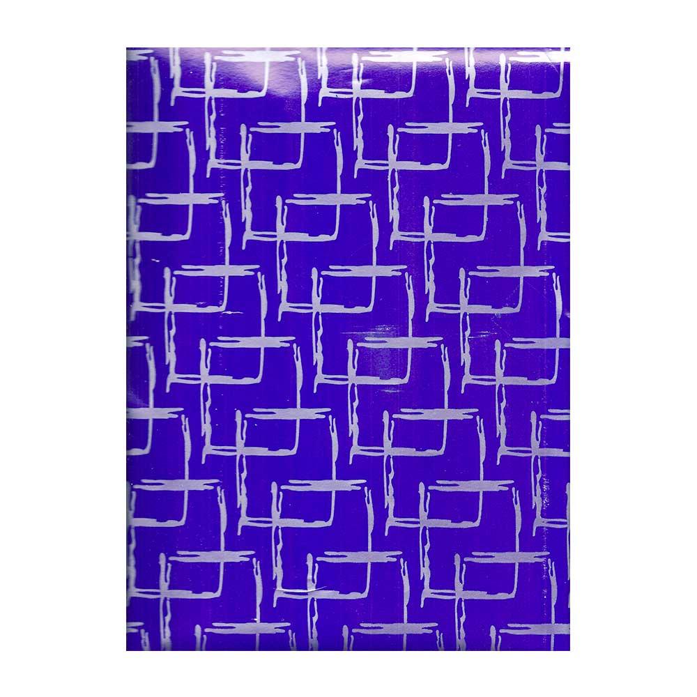 Papel de Presente - Couchê - Bobina 40cm X 90 Metros - Azul e Cinza
