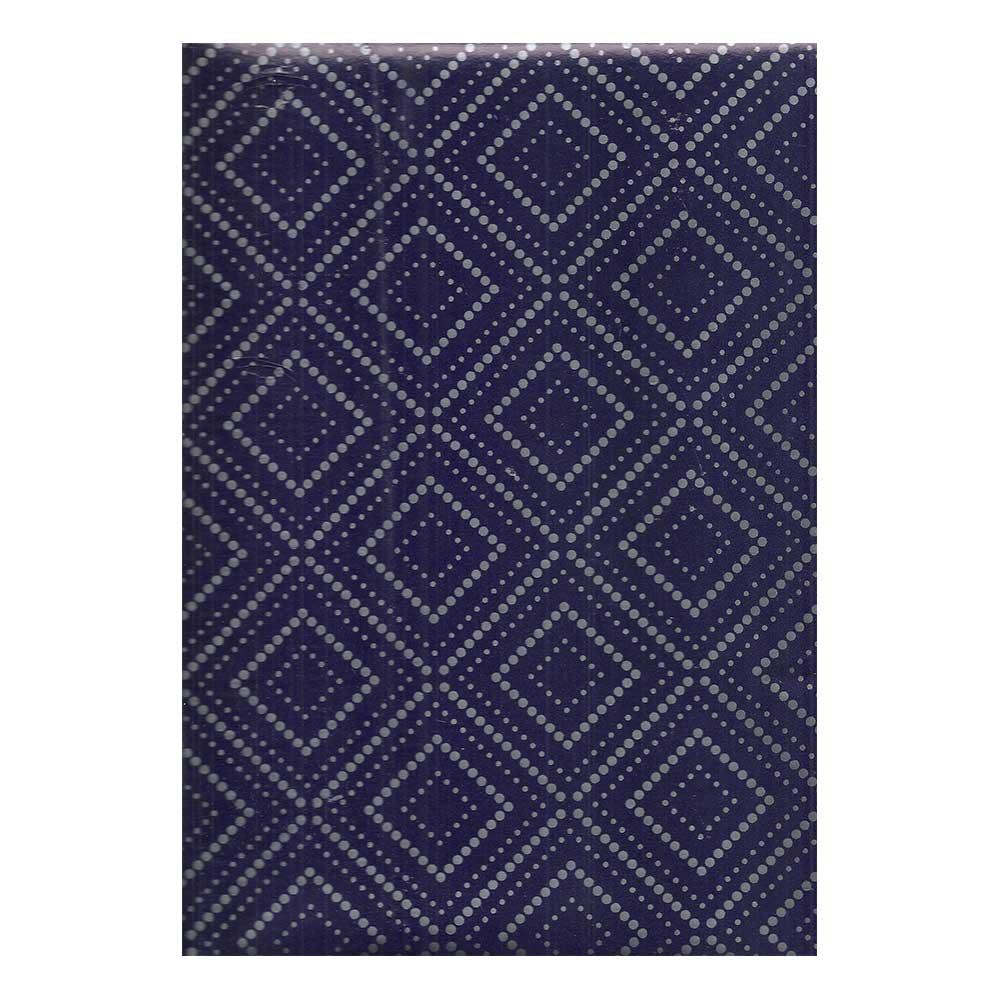 Papel de Presente - Couchê - Bobina 60cm X 90 Metros - Azul C/ Losango