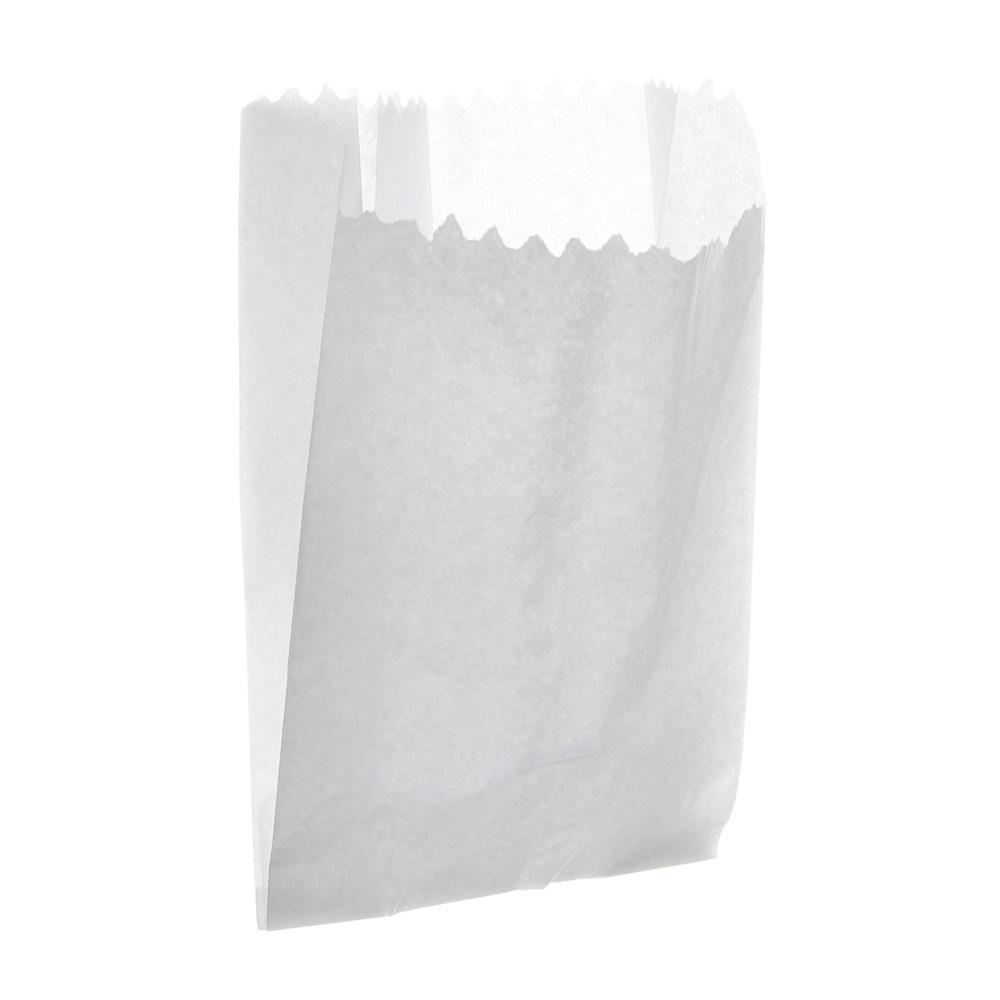 Saco de Papel Para Pipoca - Branco (Pacote 500 unid)