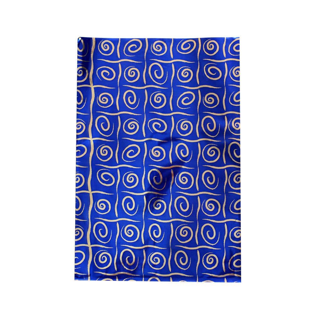 Saco de Presente Metalizado - 20x29cm - Quadrados 1 - Azul (PCT 50 unid)