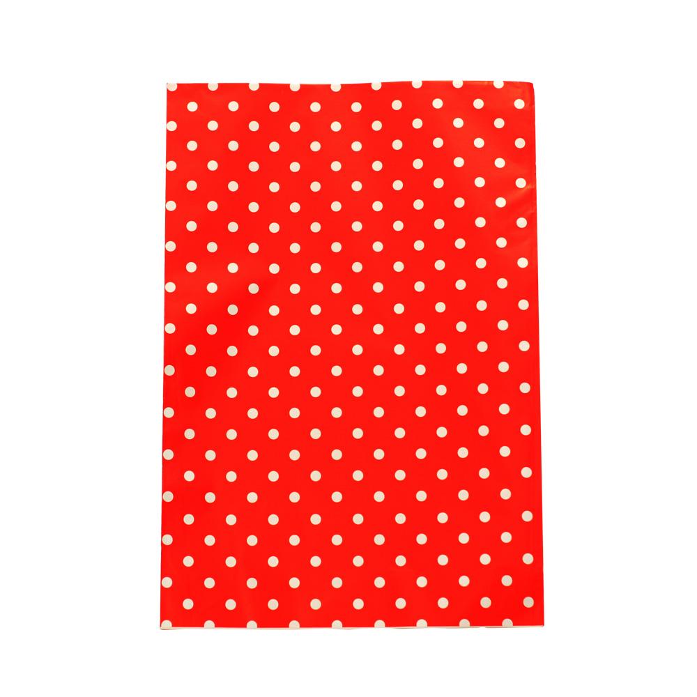 Saco de Presente Metalizado - 25x35cm - Poa Vermelho 550 (PCT 50 unid)