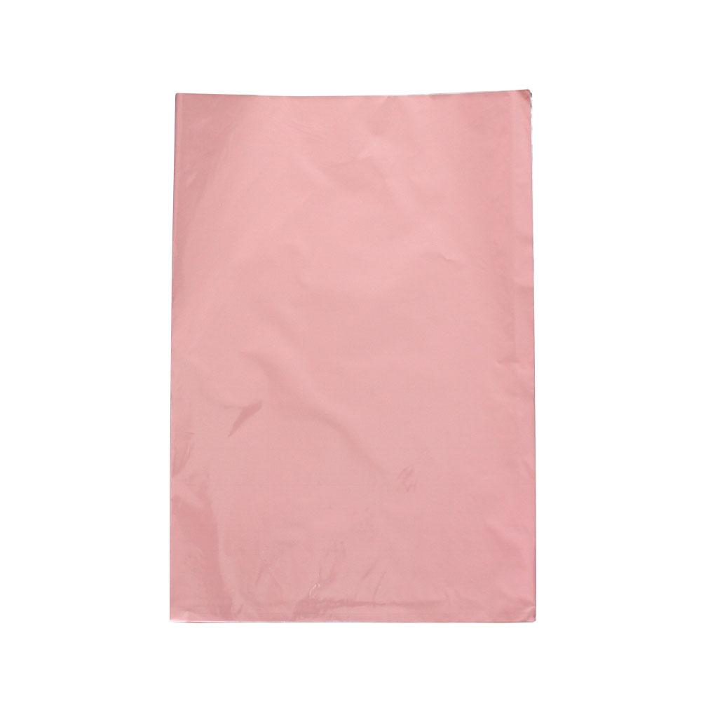 Saco de Presente Metalizado - 25x35cm - Rosa Claro (PCT 50 unid)
