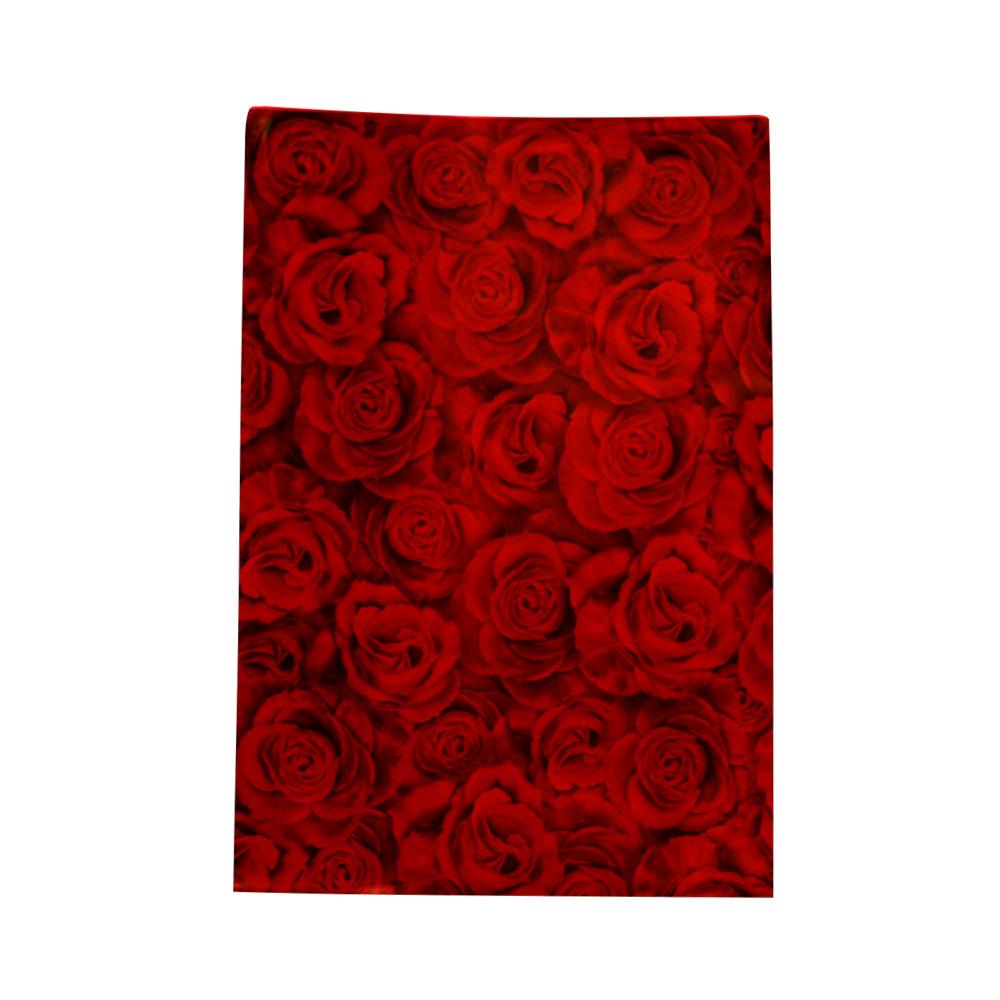 Saco de Presente Metalizado - 25x35cm - Rosas Vermelhas 337  (PCT 50 unid)