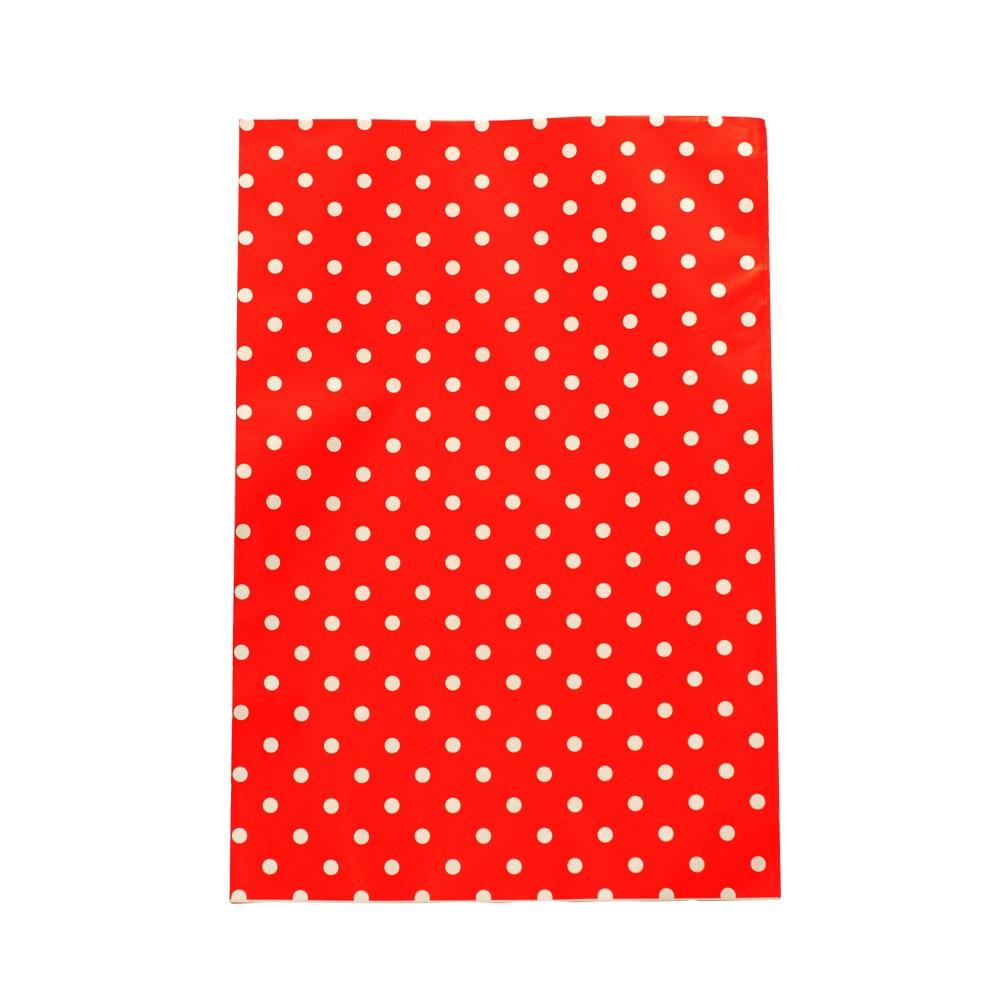 Saco de Presente Metalizado - 30x44cm - Poa 1 - Vermelho (PCT 50 unid)