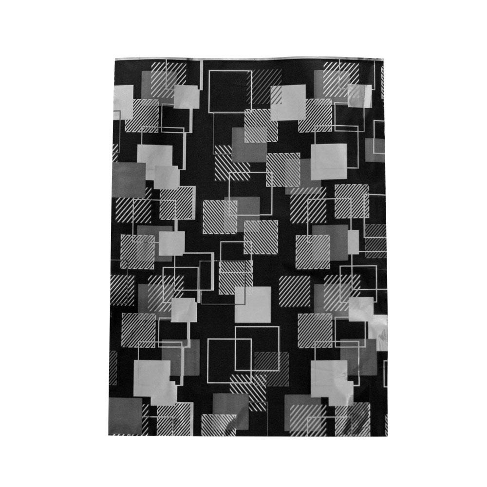 Saco de Presente Metalizado - 30x44cm - Quadrados 1 - Preto (PCT 50 unid)