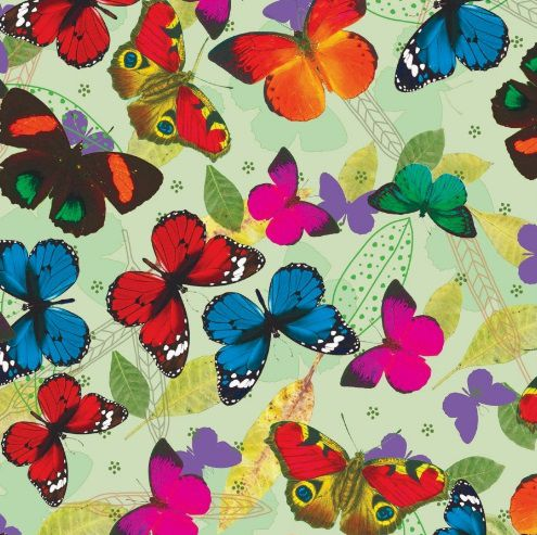 Saco de Presente Metalizado - Butterfly 30x45 (50 unidades)