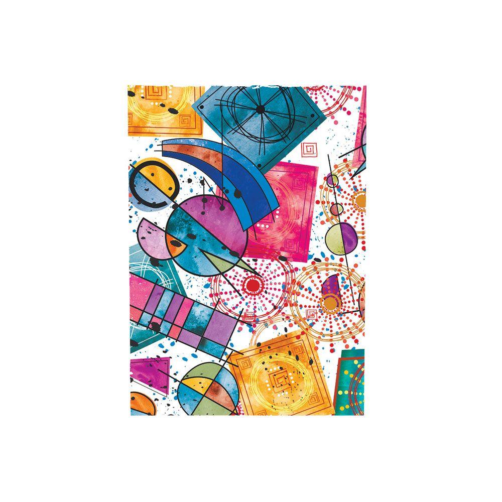 Saco de Presente Metalizado - Estampado - Cubismo | SS Embalagens