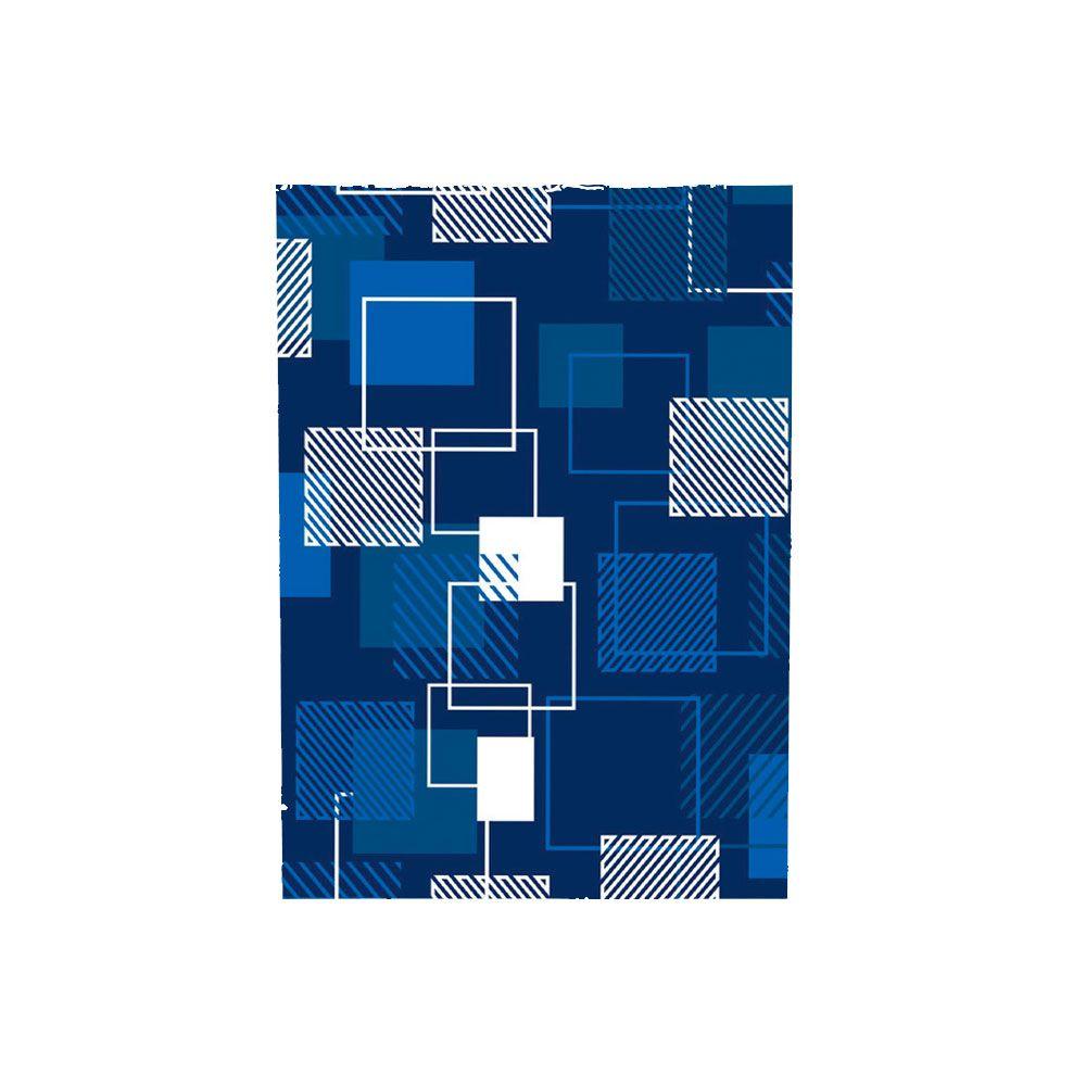 Saco de Presente Metalizado - Estampado - Quadrado Azul 561 - 20X29cm, 25X35cm ou 30X45cm - PCT (50 Unid.)