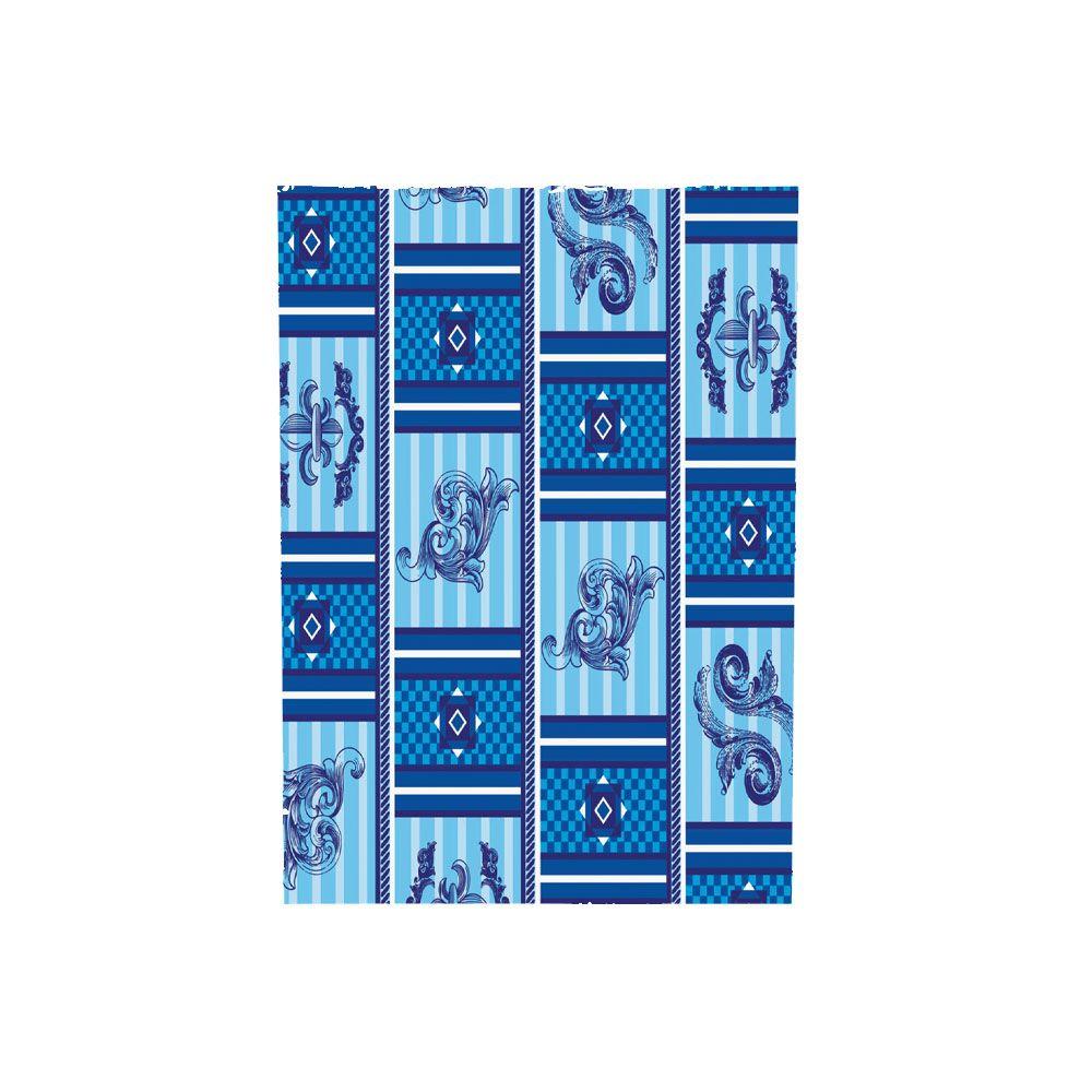 Saco de Presente Metalizado - Estampado - Xadrez Azul 418 - 20X29cm ou 30X45cm - PCT (50 Unid.)