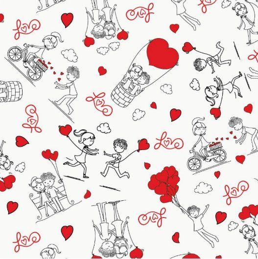 Saco de Presente Metalizado - Love Story 25x37 (50 unidades)