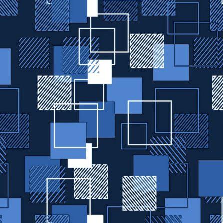 Saco de Presente Metalizado - Quadrado Azul 30x45 (50 unidades)
