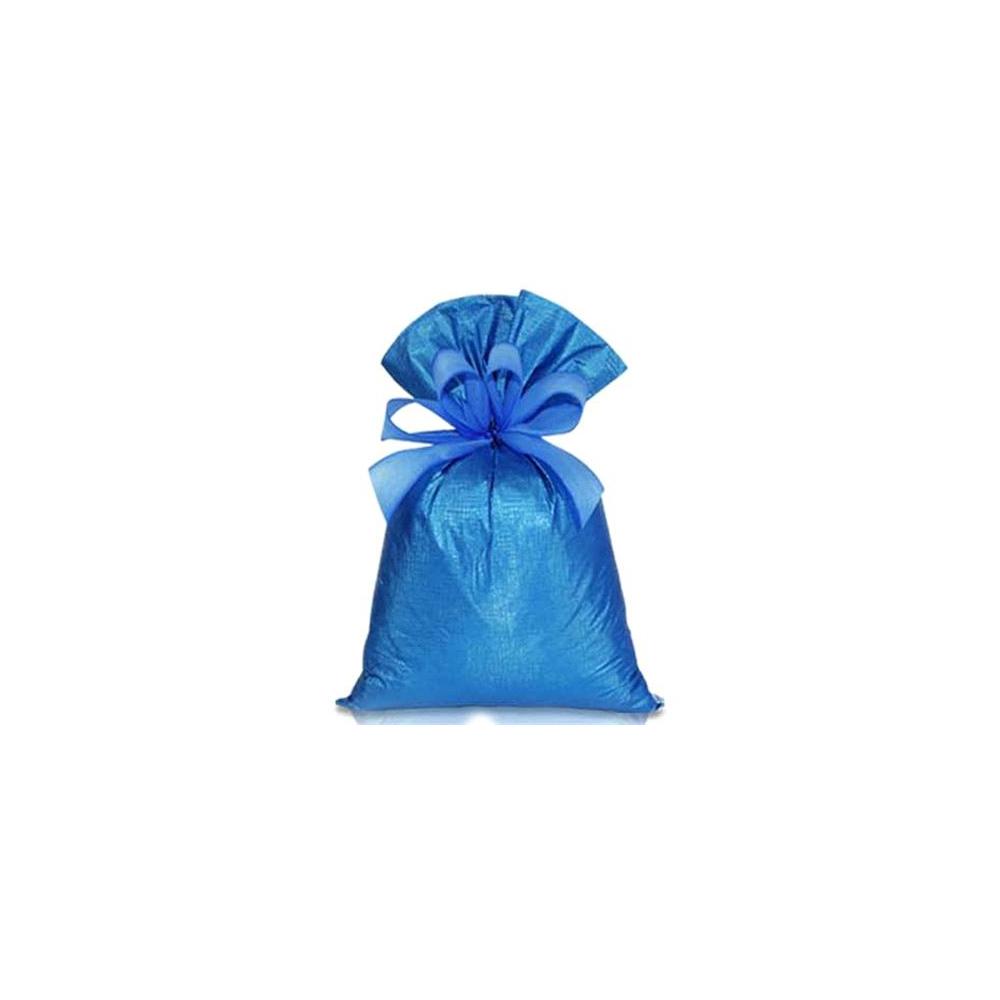 Saco de Presente Metalizado Soft - Azul - 15x30cm - Pacote - 50 unid