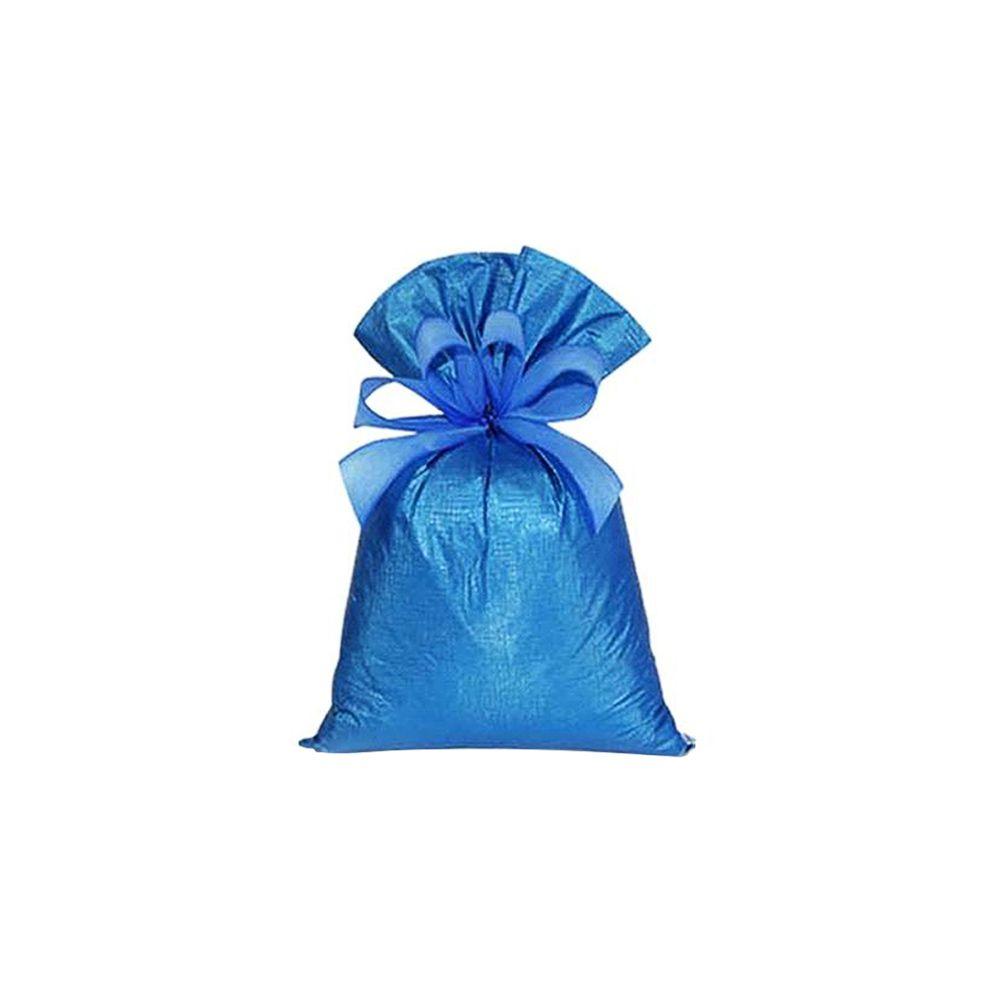 Saco de Presente Metalizado Soft - Azul - 15x30cm, 20X30cm, 30X45cm ou 35X55cm - PCT (50 Unid.)
