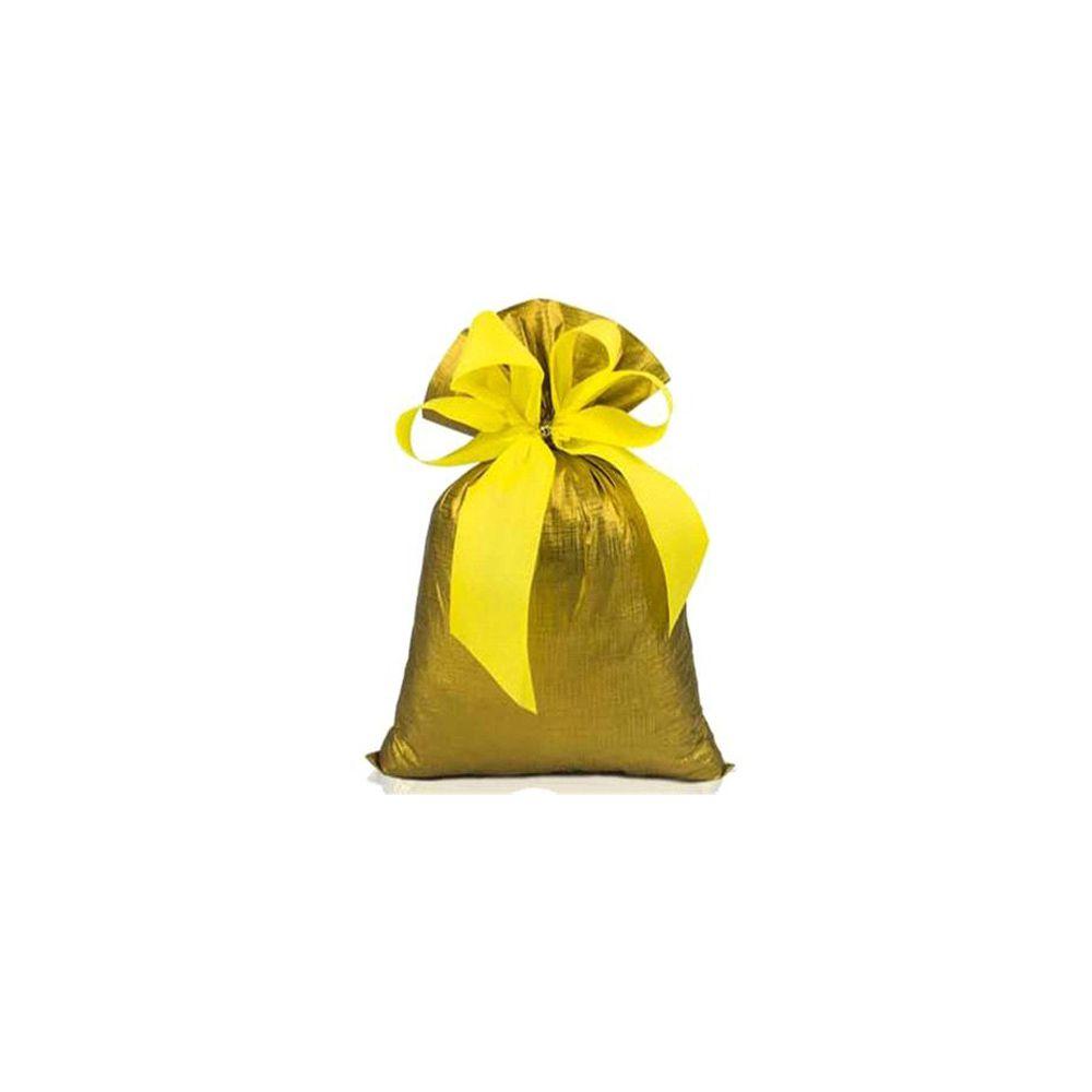 Saco de Presente Metalizado Soft - Dourado - 25X37cm, 30X45cm, 45X60cm, 50X70cm ou 60X88cm - PCT (50 Unid.)