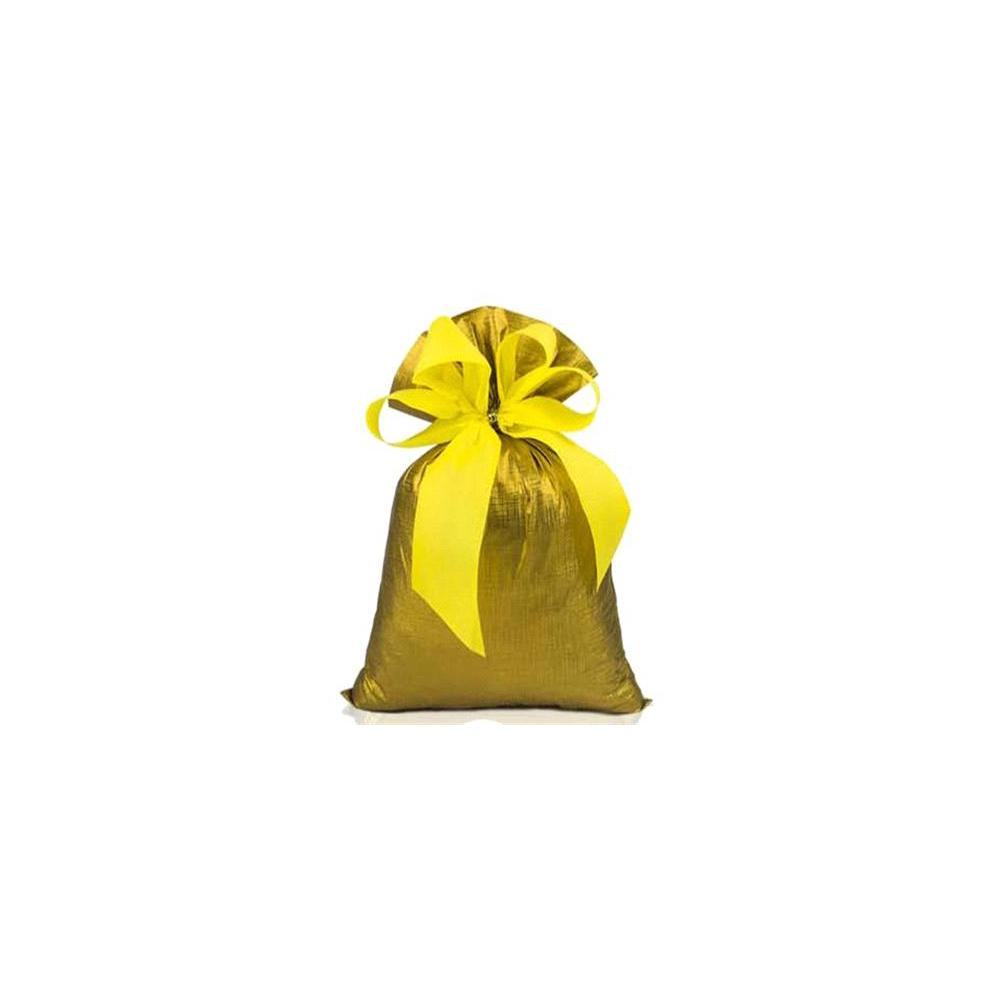 Saco de Presente Metalizado Soft - Dourado - 25x37cm - Pacote - 50 unid