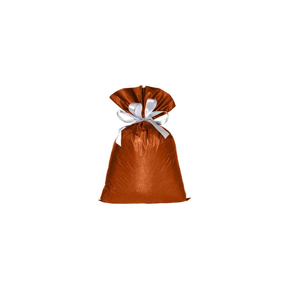 Saco de Presente Metalizado Soft - Laranja - 20X30cm, 35X55cm ou 45x60cm - Pacote - 50 unid