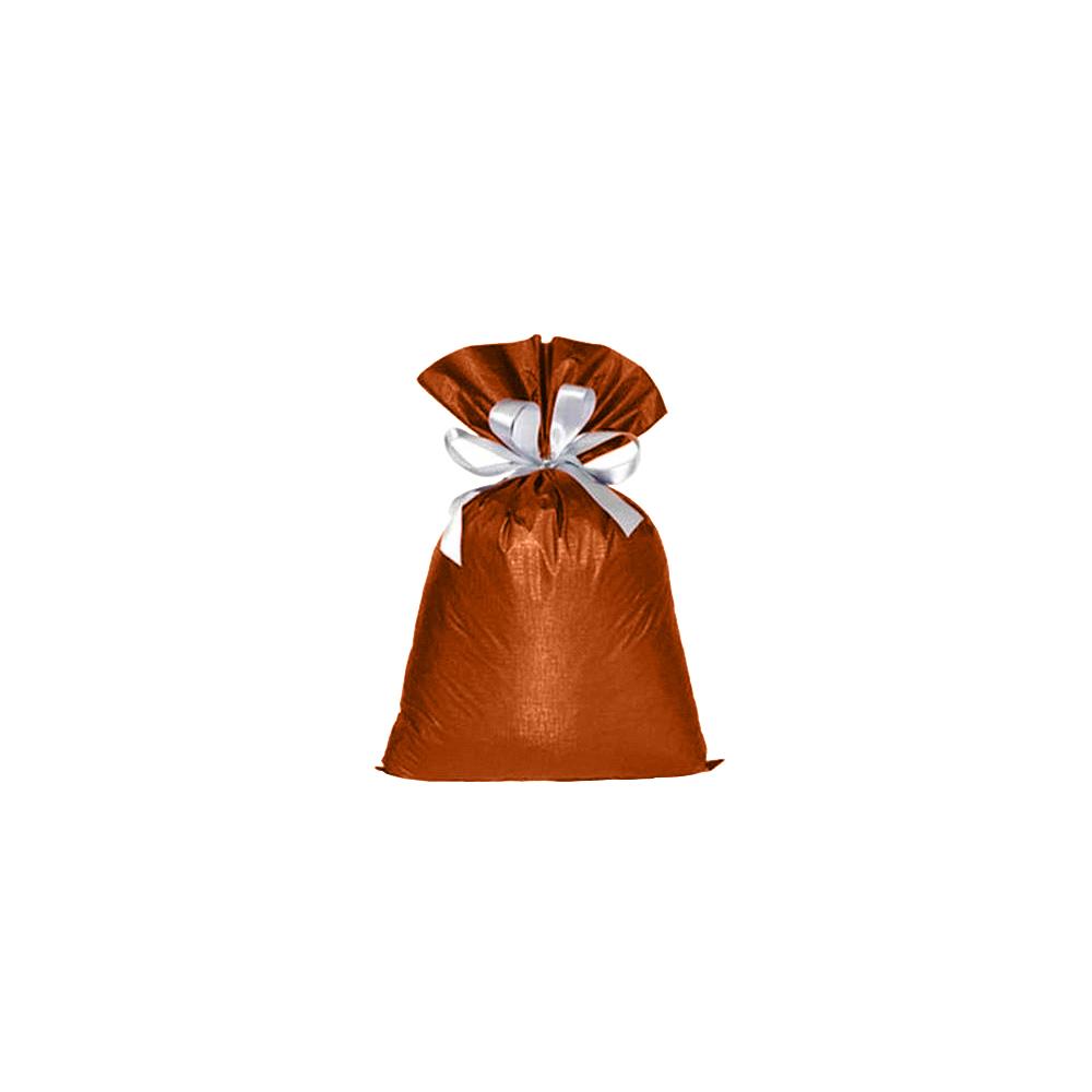 Saco de Presente Metalizado Soft - Laranja - 45x60cm - Pacote - 50 unid