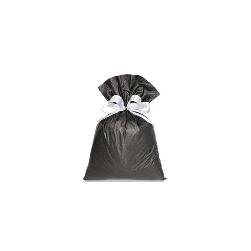 Saco de Presente Metalizado Soft - Preto - 20X30cm, 25X37cm, 35x55cm ou 45x60cm - Pacote - 50 unid