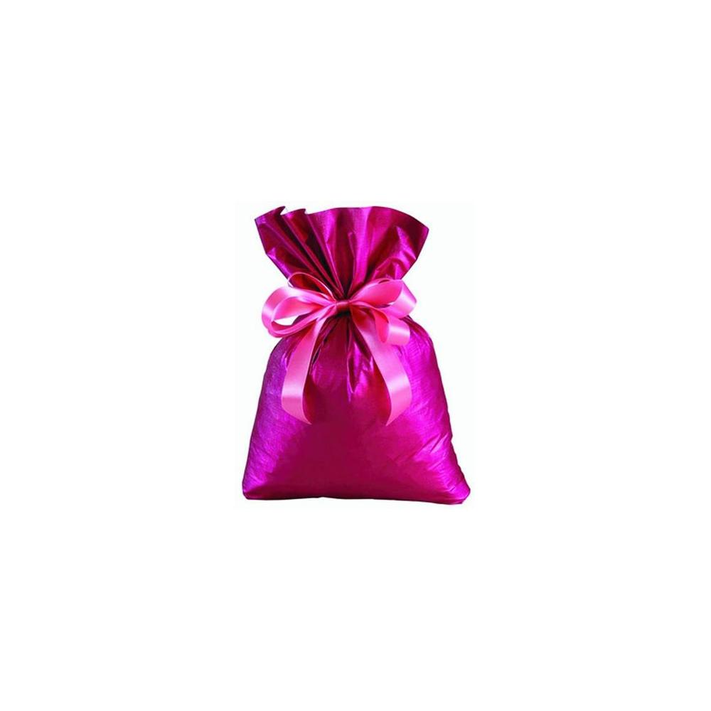Saco de Presente Metalizado Soft - Rosa - 35x55cm - Pacote - 50 unid
