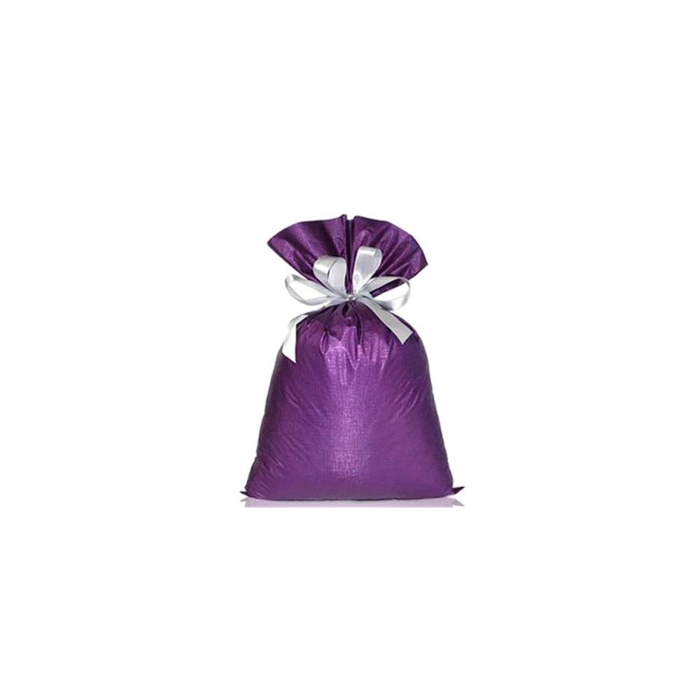 Saco de Presente Metalizado Soft - Roxo - 30x45cm - Pacote - 50 unid