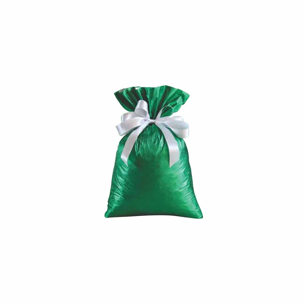 Saco de Presente Metalizado Soft - Verde - 15X30cm, 20X30cm, 25X37cm, 35x55cm ou 45x60cm - Pacote - 50 unid