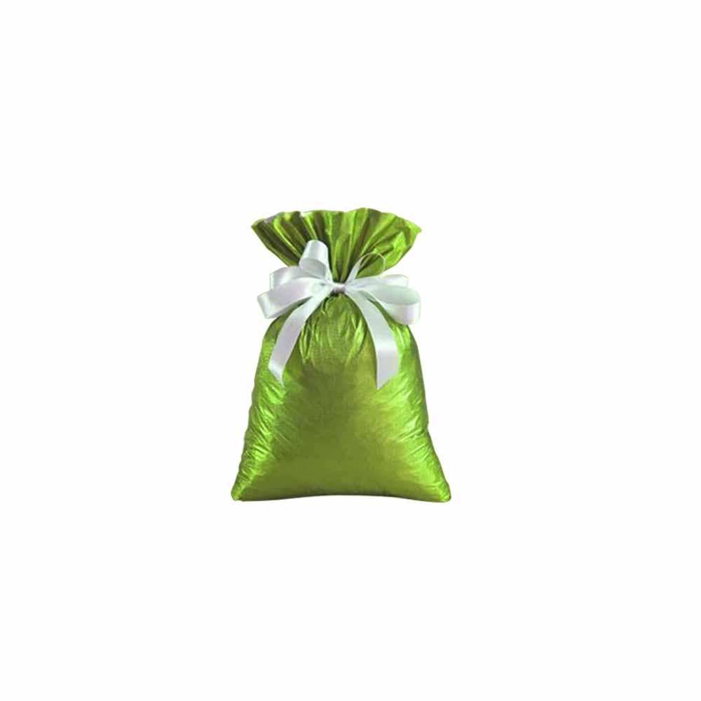 Saco de Presente Metalizado Soft - Verde Claro - 20X30cm, 25X37cm, 30x45cm, 35x55cm, ou 45x60cm - Pacote - 50 unid