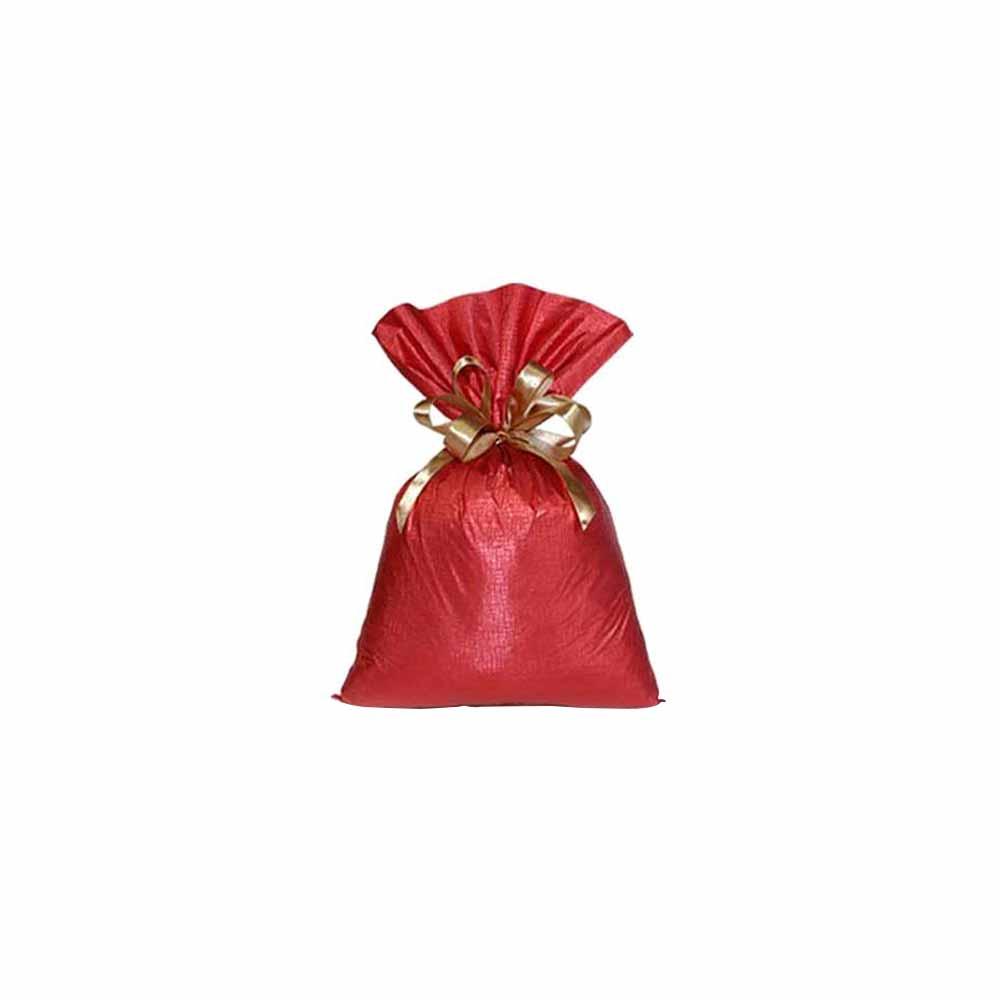 Saco de Presente Metalizado Soft - Vermelho - 20X30cm, 25X37cm, 35x55cm ou 45x60cm - Pacote - 50 unid
