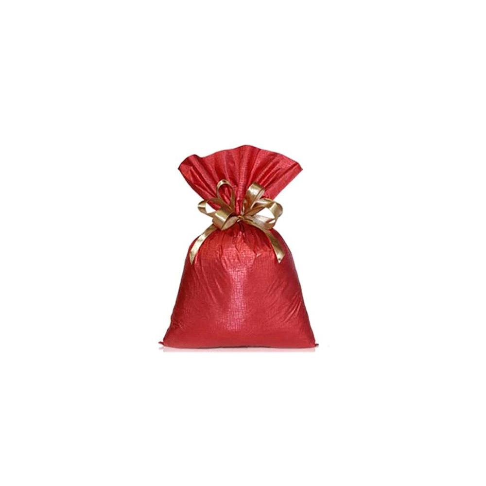 Saco de Presente Metalizado Soft - Vermelho - 35x55cm - Pacote - 50 unid