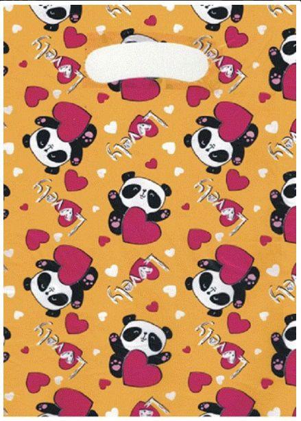 Sacola Boca Vazada (Lovely Panda) 20x30 - 50 unidades