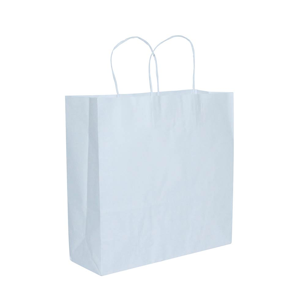 Sacola de papel Kraft - Branco - 18x22cm - Pacote 10 unidades (Gramatura 90g)