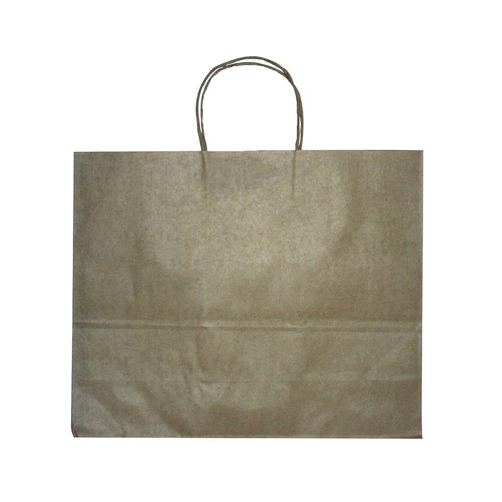 Sacola de papel Kraft - Natural - 40x33cm - Pacote 10 unidades (Gramatura 90g)