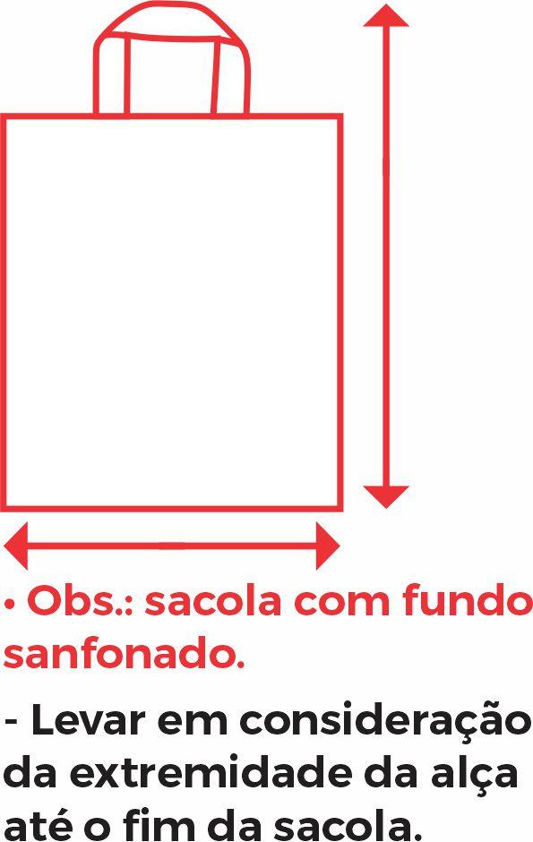 SACOLA PERSONALIZADA ALÇA FITA 45x55,13 - 1 COR E 1 LADO