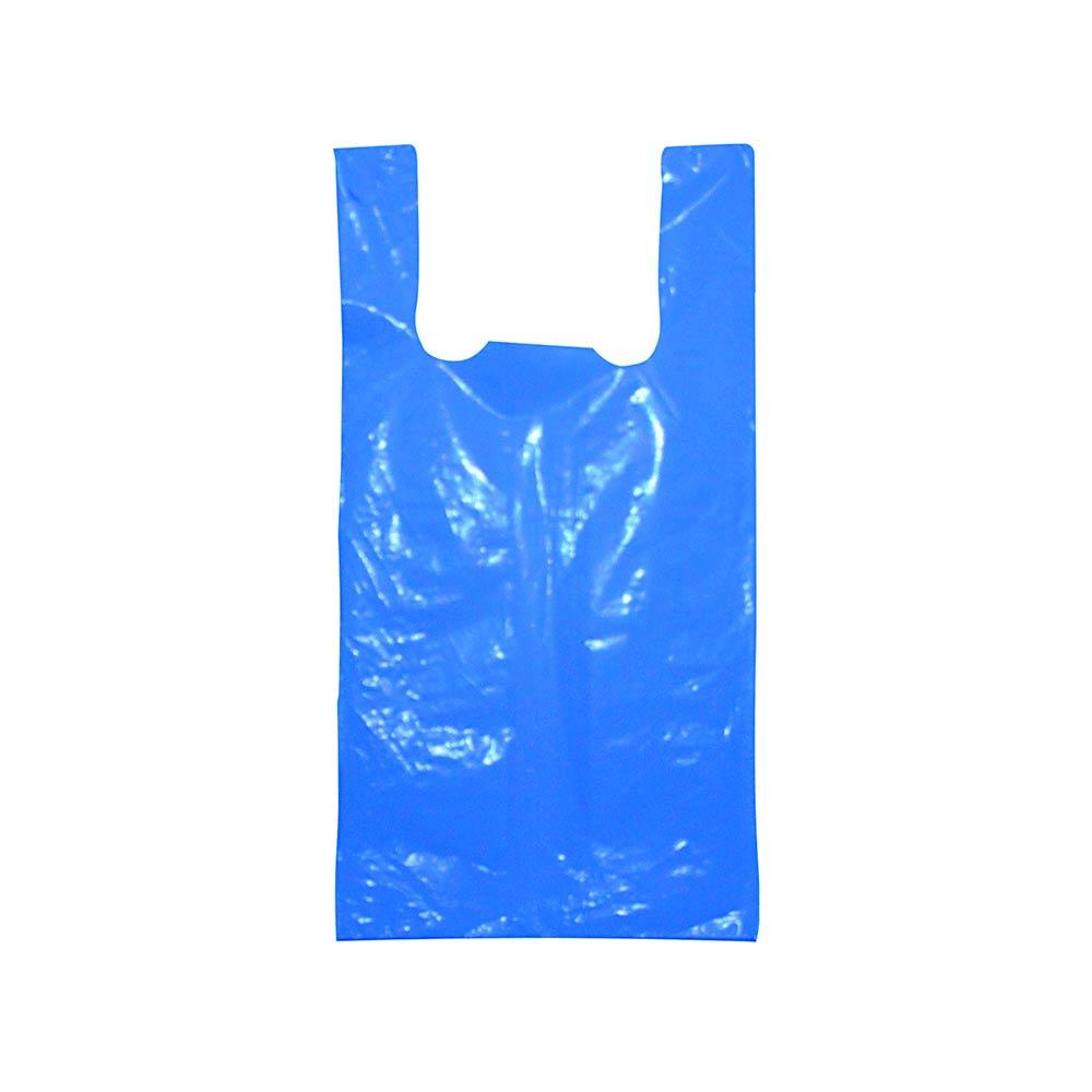 Sacola plástica Alça Camiseta Colorida - Várias Cores - 40x50cm - Pacote 75 unid (1 KG)