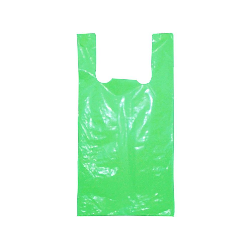Sacola plástica Alça Camiseta Colorida - Várias Cores - 45x60cm - Pacote 65 unid (1 KG)