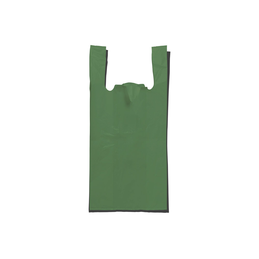 Sacola plástica Alça Camiseta - Reciclada - 35x45cm - Pacote 405 unid (5KG)