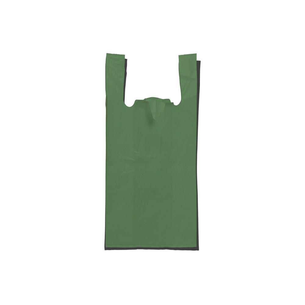 Sacola plástica Alça Camiseta - Reciclada - 50x70cm Pacote 135 unid (5KG)