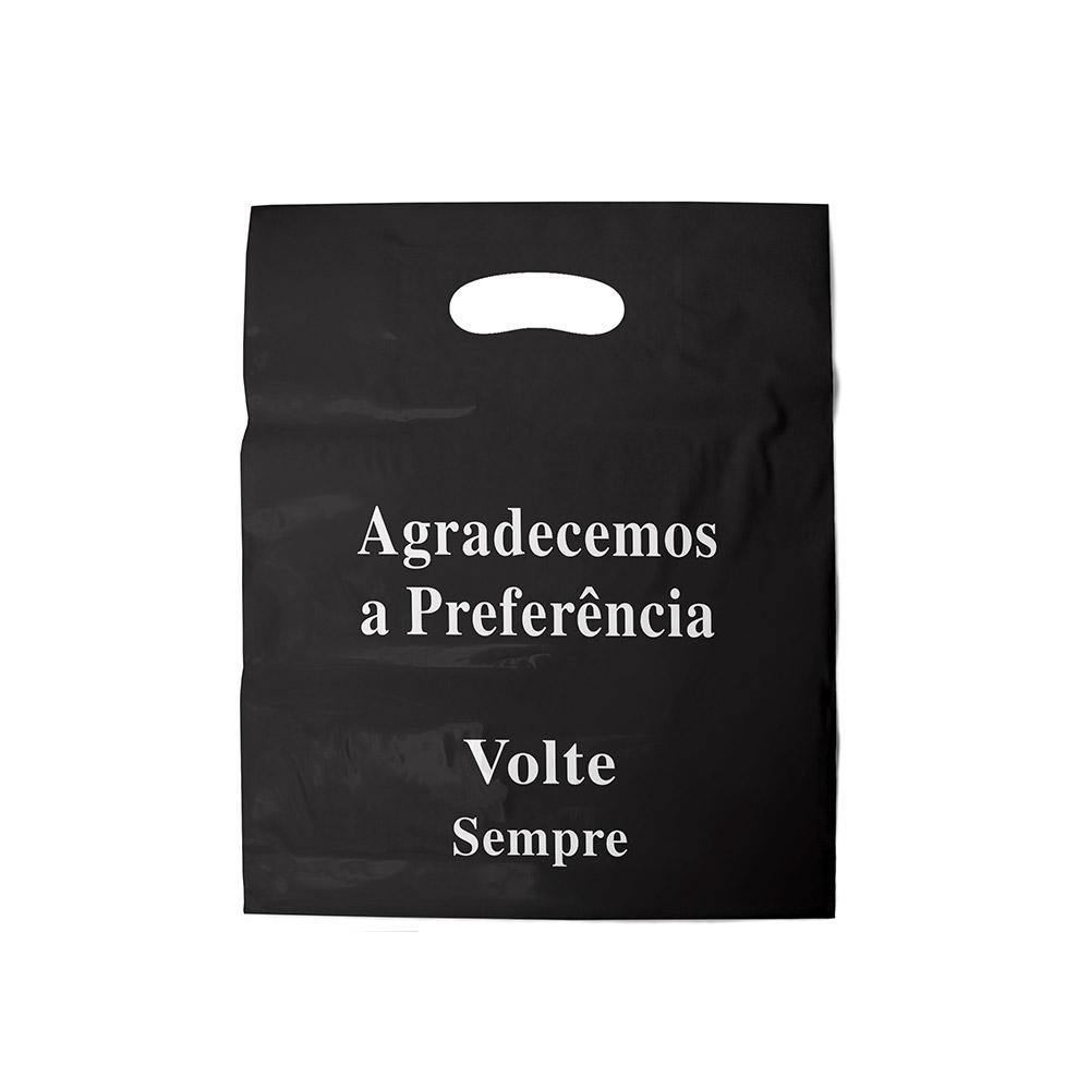 Sacola plástica Boca de Palhaço Estampada - Volte sempre - 20x30cm - Pacote 108 unid (1 KG)