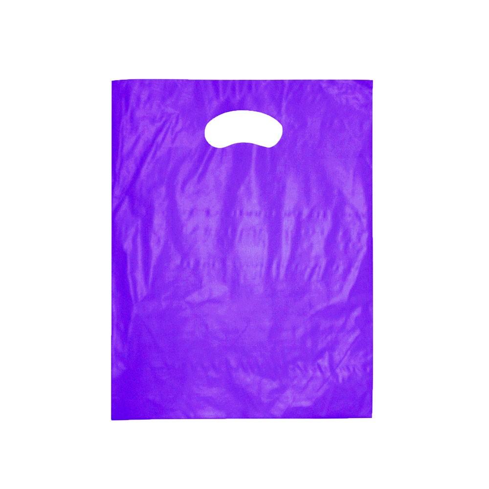 Sacola Plástica Boca de Palhaço Reciclada - Várias Cores - 30x40 - Pacote 63 unid (1 KG)